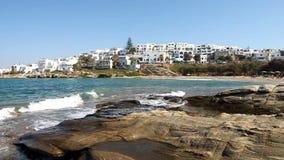 Городок Naoussa в острове Paros видеоматериал