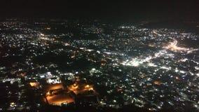 Городок nighttime стоковое изображение rf