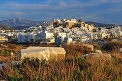 Городок od Chora взгляд сверху, остров Naxos стоковые изображения