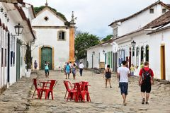 Городок Paraty, Бразилия стоковые изображения
