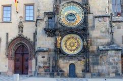 городок prague астрономических часов старый квадратный Стоковое Изображение RF