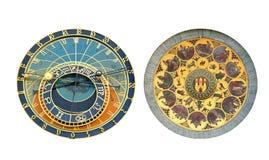 городок prague астрономических часов старый квадратный Стоковые Изображения RF