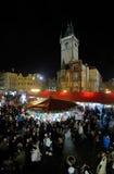 городок prague рынка рождества старый квадратный Стоковые Фото
