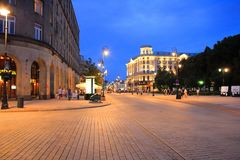 Городок przedmiescie Варшавы Krakowskie старый Стоковое фото RF