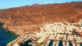 Городок Puerto de Mogan на побережье острова Гран-Канарии видеоматериал