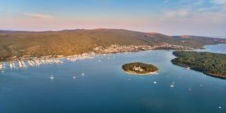 Городок Punat, остров Krk, Хорватия Стоковая Фотография