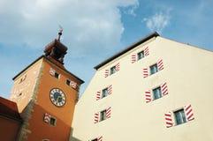 городок regensburg залы Германии Баварии старый Стоковая Фотография