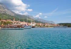 городок riviera makarska Хорватии dalmatia стоковая фотография rf