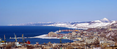 городок sakhalin острова holmsk стоковые изображения