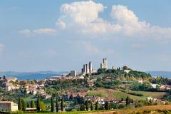 городок san gimignano итальянский старый Стоковые Изображения RF