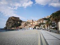 Городок Scilla старый исторический, Италия стоковое фото rf