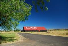 городок shaniko Орегона привидения Стоковая Фотография RF