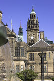 городок sheffield залы Англии Стоковое Фото
