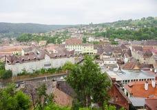 Городок Sighisoara средневековый Стоковые Фотографии RF