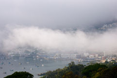 городок simonstown гавани плащи-накидк Стоковое Фото