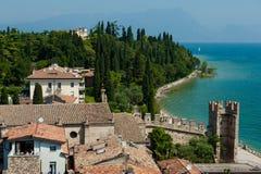 Городок Sirmione, Италия стоковые изображения rf