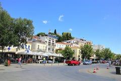 Городок Skiathos, Греция стоковые изображения rf