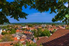 Городок Sremski Karlovci старый - Сербия стоковое фото