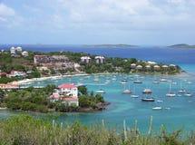 городок st john острова стоковое изображение rf