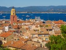 Городок St Tropez, Франции стоковое изображение rf