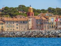 Городок St Tropez, Франции стоковое фото