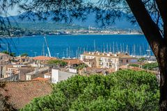 Городок St Tropez стоковые фотографии rf