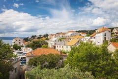 Городок Sumartin на Brac Стоковое фото RF