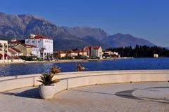 Городок Tivat, Budvanska riviera стоковое фото
