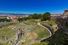 Городок Volterra средневековый в Тоскане Италии Стоковые Изображения RF