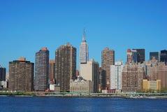 городок york горизонта manhattan города средний новый стоковые изображения rf