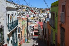 Городок Zacatecas старый в Мексике стоковые изображения rf