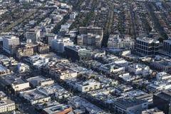 Городская антенна Беверли-Хиллз Калифорнии Стоковые Изображения