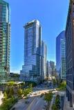 Городская гавань Ванкувера стоковые фото