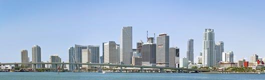 городская панорама miami Стоковое Изображение RF