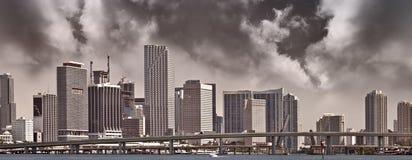 городская панорама miami Стоковая Фотография RF