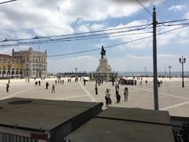 Городская площадь Лиссабона Стоковая Фотография