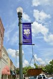 Городская площадь Covington, Covington, TN стоковые изображения