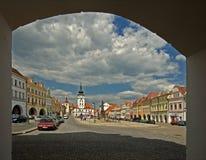 Городская площадь Zatec Стоковое Фото