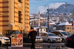 Городская ратуша в Сараеве стоковые фотографии rf