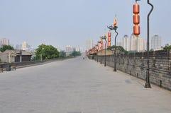 Городская стена Сиань, Шэньси, Китай стоковое изображение