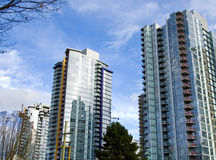 городские башни vancouver Стоковое Изображение RF