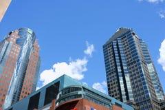Городские небоскребы в Монреали, Канаде Стоковая Фотография
