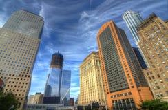 городские небоскребы manhattan Стоковые Изображения RF
