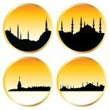 городские пейзажи исламские Стоковая Фотография