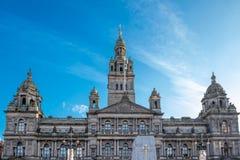 Городские ратуши Глазго в Шотландии стоковые фото
