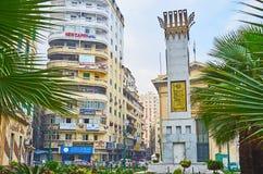 Городские улицы Александрии, Египта Стоковое Изображение