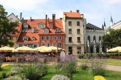 Городское сценарное городка Риги старого Стоковое Изображение