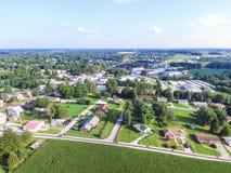 Городское Shrewsbury, дома Пенсильвании в лете в южном Yo Стоковое Изображение RF