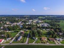 Городское Shrewsbury, дома Пенсильвании в лете в южном Yo Стоковое фото RF