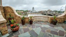 Городское St Charles, Иллинойс от балкона хлебопека гостиницы стоковая фотография rf